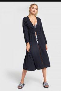 μαύρο φόρεμα κιμονό