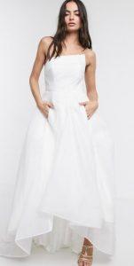 maxi νυφικό φόρεμα
