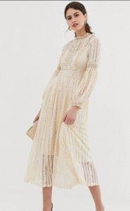 midi φόρεμα για γάμο