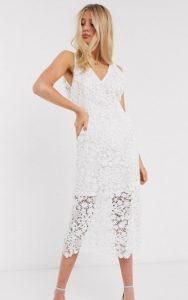 midi λευκό φόρεμα γάμου