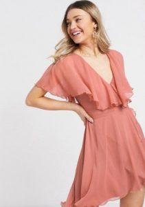 mini αέρινο φόρεμα ροζ