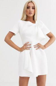μίνι άσπρο φόρεμα γάμου