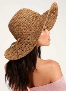 μπεζ πλεκτό καπέλο γυναικείο