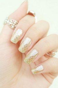 νυφικο νυχι χρυσο κιτρινο
