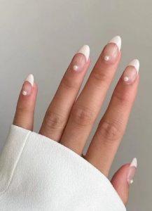 νύχια γαλλικό λευκό