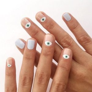 νύχια σχέδια ματάκια καλοκαιρινά σχέδια νύχια