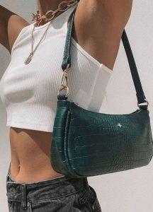 πράσινη τσάντα ώμου
