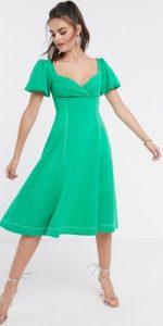πράσινο midi φόρεμα