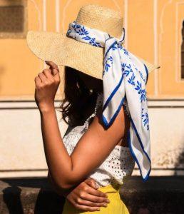 ψάθινο καπέλο με κορδέλα