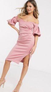 ροζ κομψό φόρεμα