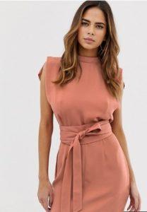 ροζ κομψό mini φορεματάκι