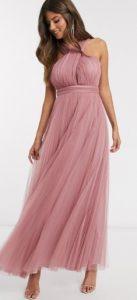 ροζ maxi φόρεμα