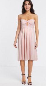 ροζ στράπλες φόρεμα