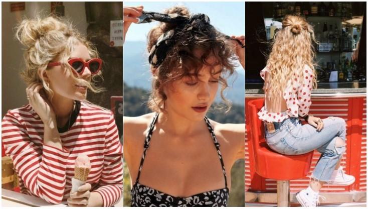 χτενίσματα σγουρά μαλλιά
