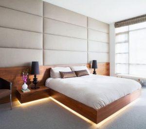 υπνοδωμάτιο κρυφός φωτισμός κάτω από το κρεβάτι