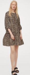 animal print κοντό φθινοπωρινό φόρεμα