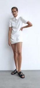 φορεμα κοντο λευκο