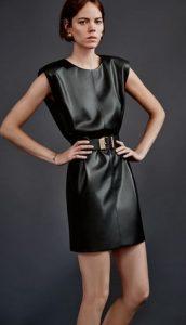 μαυρο δερματινο φορεμα