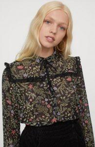 80s style floral γυναικεία ρούχα