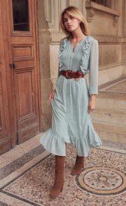 γαλάζιο φθινοπωρινό φόρεμα