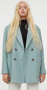 γαλάζιο oversized γυναικείο παλτό