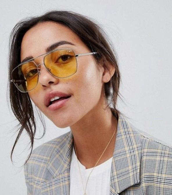 γυναικεία γυαλιά ηλίου με κίτρινους φακούς