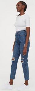 jean γυναικείο παντελόνι με σκισίματα