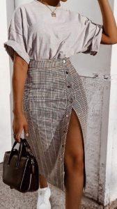καρό φούστα