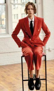 κοστουμι κοκκινο γυναικειο
