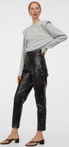 κοντό δερμάτινο παντελόνι