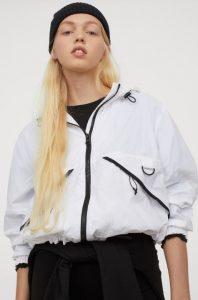 λευκό γυναικείο καθημερινό μπουφάν