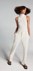 λευκο υφασματινο παντελονι