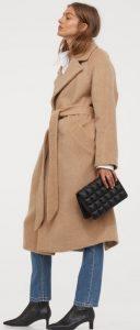 μάλλινο γυναικείο παλτό με ζώνη