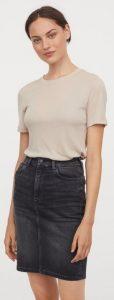 μαύρη jean φούστα h&m 2021