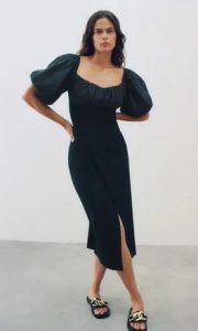μαυρο φορεμα φαρδοι ωμοι