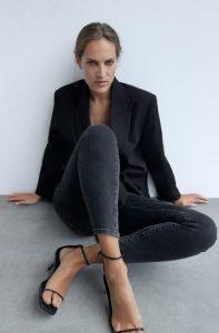 σακακι μαυρο με τζιν ζαρα