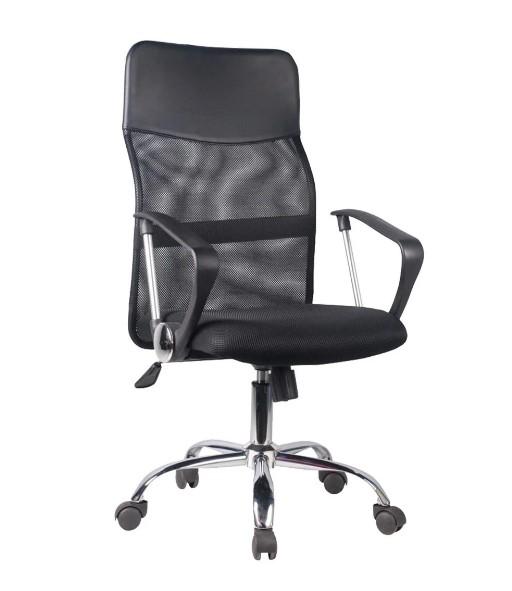 μαύρη καρέκλα γραφείου με ροδάκια