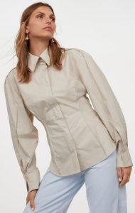 μεσάτο γυναικείο πουκάμισο h&m χειμώνας 2021