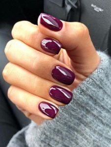 μοβ νύχια για το φθινόπωρο