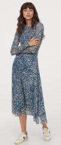 μπλε maxi χειμερινό φόρεμα h&m