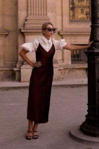 μπορντό slip dress πουκάμισο καλοκαιρινά ρούχα φθινόπωρο