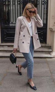 ντύσιμο με τζιν και σακάκι