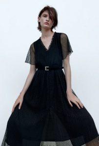 φορεμα μαυρο με μανικια