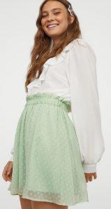 πράσινη πουα ψηλόμεση φούστα