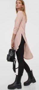ροζ ασύμμετρη μπλούζα h&m