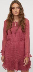 ροζ φόρεμα με διαφάνεια ediva.gr