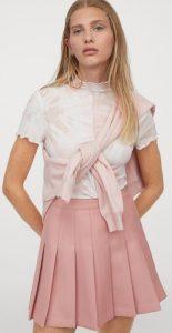 πλισέ κοντή φούστα φθινόπωρο 2020
