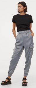 σατέν γυναικείο παντελόνι h&m