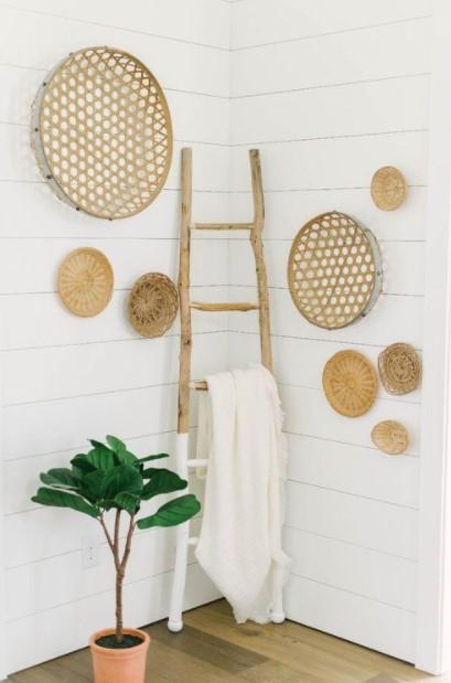 σκάλα διακόσμησης καλάθια τοίχους
