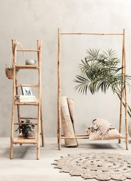 σκάλα κρεμάστρα bamboo